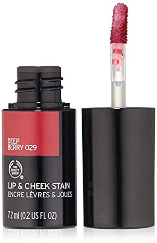 The Body Shop Lip and Cheek Stain, 0.24 Fl Oz - 029 Deep Berry