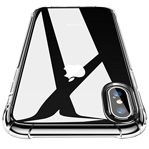 "CANSHN Funda iPhone Xs,Funda iPhone X, Carcasa Protectora Antigolpes Transparente con Parachoques de TPU Suave Flexible [Slim Delgada] Anti-Choques para Apple iPhone Xs/X 5.8"" - Transparente"