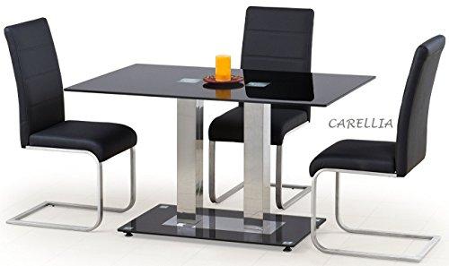 Table A Manger Design RECTANGULAIRE - L : 130 CM X P : 80 CM X H : 74 CM - Couleur : Noir