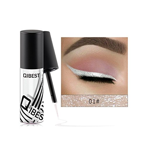 Allbesta Metallic Liquid Eyeliner Shiny Smokey Augen Wasserdicht Langlebig Glitzer Lidschatten Make-up