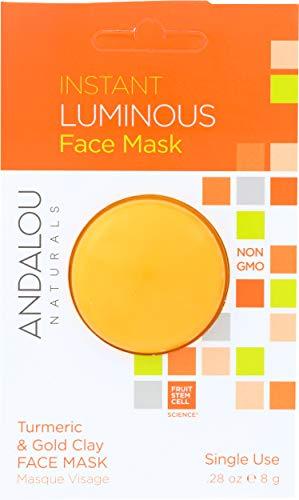 Sofortige Luminous, Kurkuma Gold Lehm-Gesichtsmaske - Andalou Naturals