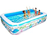 SOARRUCY Inflatable Swimming Pools for Kids and Adults - 10 FT 120x70x23.5in piscinas para Adultos,Kid Pool?Inflatable Pool for Toddlers, Family,Outdoor, Backyard ,Garden,Summer Water Party