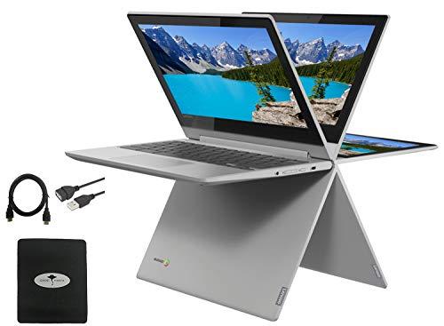 2021 Newest Lenovo Chromebook Flex 3 2-in-1 11.6' Convertible Touch Screen Laptop, 360°flip-and-fold Design, MediaTek MT8173C(Beat N4020), 4GB Memory, 32GB eMMC, PowerVR, Chrome OS w/GM Accessories