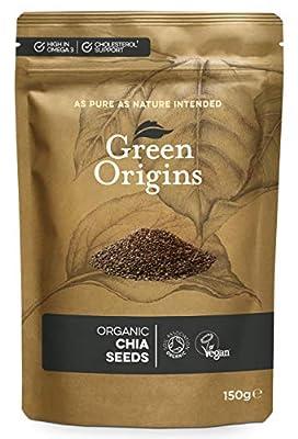 Green Origins Organic Chia Seeds, Raw 150g
