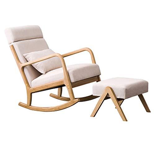 Gestoffeerde schommelstoel, reinigbare gestoffeerde stoel, met spons met hoge dichtheid, het is beste keuze voor de luie fauteuil, kan ervoor zorgen dat je sneller staat binnenkomt als je wilt rusten