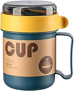 Lonchera Tipo Taza Portavianda Contenedor Para Comida Lunch Box Caja de Almuerzo Libre BPA 500 ml Con Cubiertos Incluidos ...