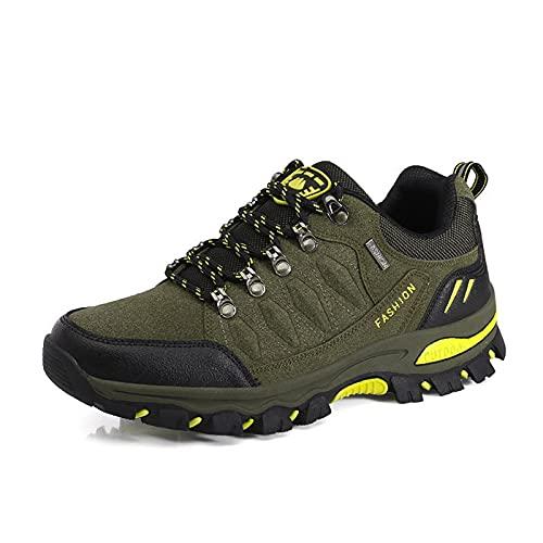 Calzado Trekking & Senderismo para Hombre, Calzado para Caminar Al Aire Libre para Todas Las Estaciones, Calzado Deportivo De Caña Baja, Escalada, Viajes, Pesca, Escalada (Brown,40 (EU 40 1/3))