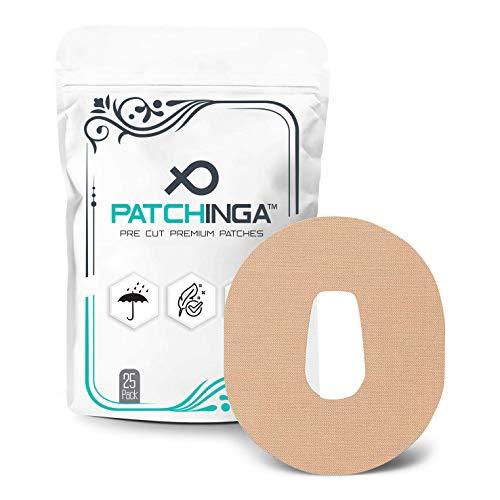 PATCHINGA | 25x Dexcom G6 Pflaster, CGM Sensor Patch, Fixierung, Overpatch, Tape, selbstklebend, wasserfest, hautfreundlich, haltet bis zu 10 Tage - Erhältlich in 4 Farben (beige)