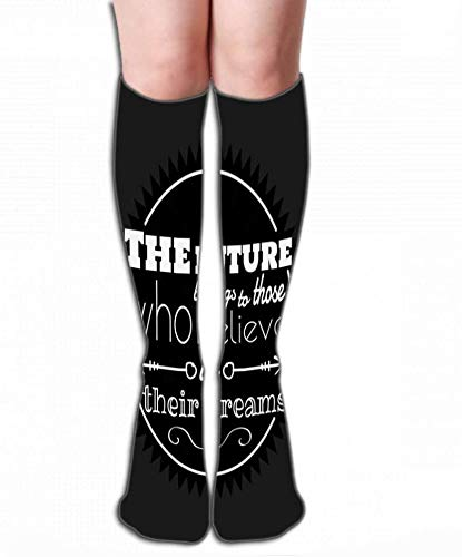 Voxpkrs Imprimer Chaussettes hautes pour femmes Athletic Over-the-Calf Tube 19.7\