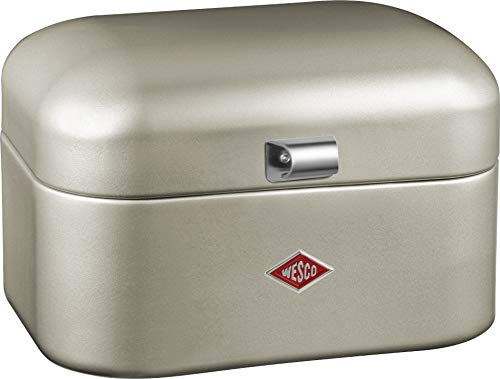 WESCO 235 101 Single Grandy Brotkasten neusilber 22 x 28 x 17cm (L/B/H), Edelstahl