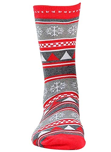adam und eesa Festive Feet Damen Neuheit Weihnachten Socken Größe 4–8EU 37–42Weihnachts Grey Pattern