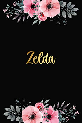 Zelda: Personalized Name Lined Journal Diary Notebook 120 Pages, 6