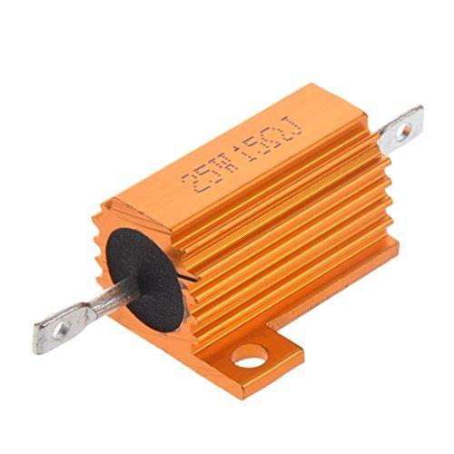 Naliovker Gold-Ton 25-Watt-Netz 15 Ohm 5% luminiumgehaeuse Drahtwiderstand