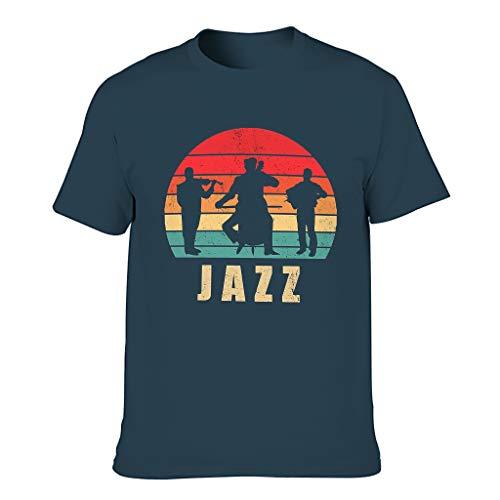 FFanClassic Camiseta de algodón para hombre Jazz Funny Stylish Ultra Soft - Pattern Tops