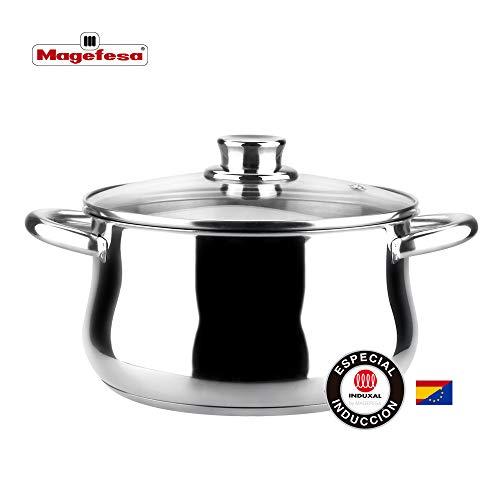 MAGEFESA Ideal – La Familia de Productos MAGEFESA Ideal está Fabricada en Acero Inoxidable 18/10, Compatible con Todo Tipo de Fuego. Fácil Limpieza y Apta lavavajillas. (Olla, 24_cm)
