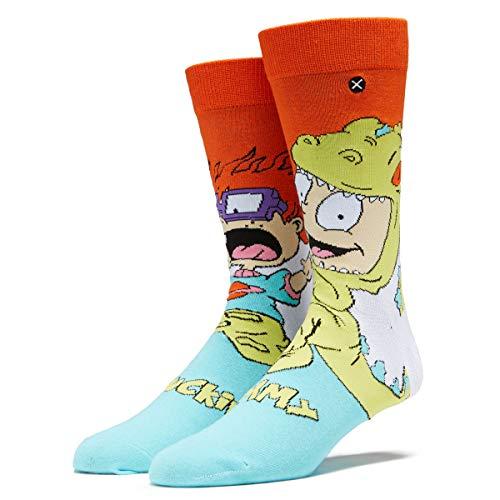 Odd Sox, Unisex, Nickelodeon, Tommy & Chuckie Reptar, Crew Socks, Cartoon 90s