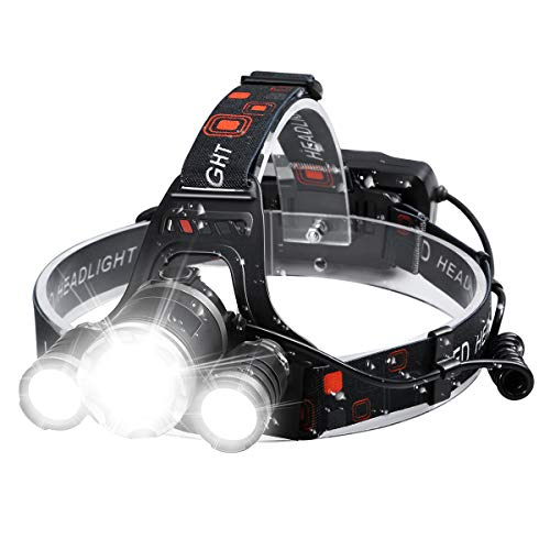 Headlamp Rechargeable Headlamps 6000 High Lumens Super Brightest Head Lamp for...
