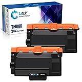 LxTek Compatible Toner Cartridge Replacement for Brother TN880 TN-880 to use with HL-L6200DW HL-L6300DW HL-L6200DWT HL-L6250DW MFC-L6800DW MFC-L6700DW (2 Black, Super-High Yield 12,000 Pages)