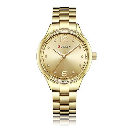 Flytise Reloj de Cuarzo para Mujer con Banda de aleación Reloj de Pulsera de Moda Relojes 3ATM