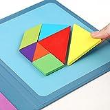 Travel Tangram Puzzle Juguetes educativos Libro de Bloques de patrón magnético Juego de Viaje por Carretera Rompecabezas de Formas Disección Juegos Stem con solución para niños Adult Challenge