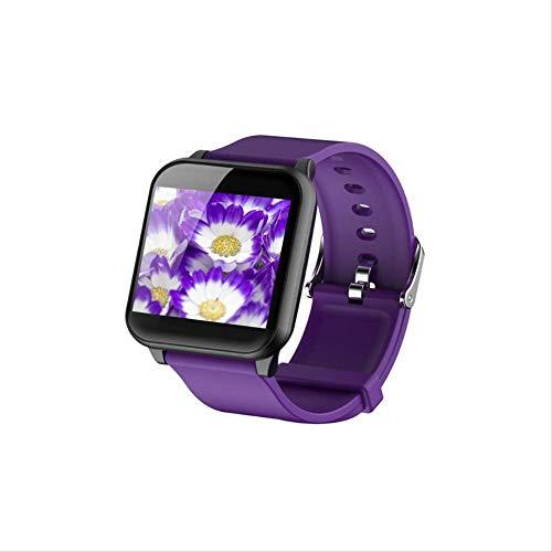 Pulsera Inteligente Bluetooth, Frecuencia Cardíaca En Tiempo Real, Presión Arterial, Monitoreo del Sueño, Modo Multideportivo, Pulsera Impermeable púrpura