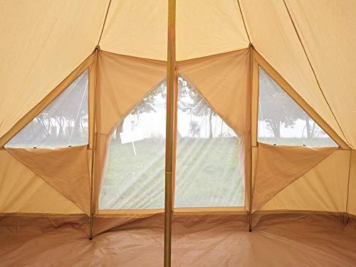 Latourreg Cotton Canvas 5X4M Touareg Bell Tent Square Glamping Safari Tent with Double Door. 4