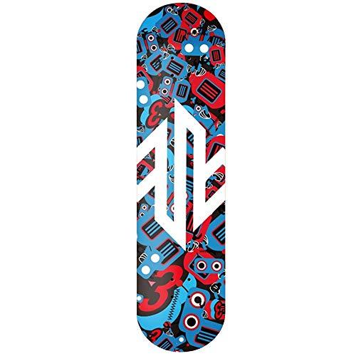 WHOJS Skateboard Ruedas de PU 102A Doble Eje de balancín de