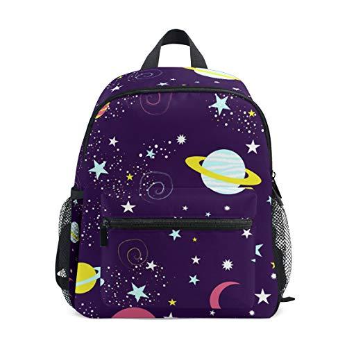 Bonita mochila dibujada a mano con diseño de galaxia espacial cósmica Universe para niños preescolares, Bonito universo cósmico 3 dibujado a mano (Multicolor) - A01E18011-A