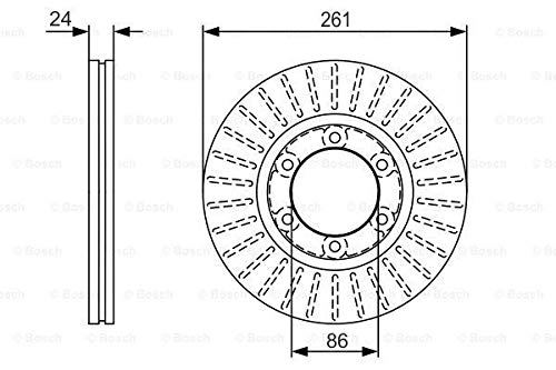 Bosch 0 986 479 053 - Discos de freno (2 unidades)