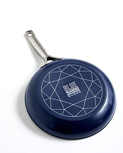 POÊLES BLUE DIAMOND 20 CM Votre révolution pour cuire dans une poêle en céramique incrusté de particules de diamants - Vu à la Télé