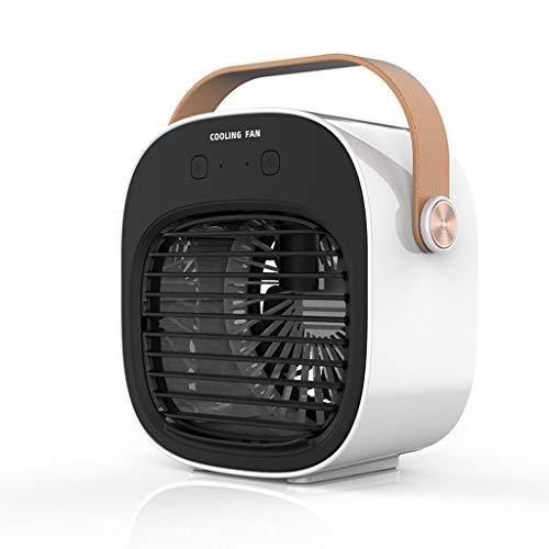 Mini ventilador portátil de ar condicionado para mesa de trabalho, mini refrigerador de ar, carregamento USB, ferramentas pessoais de refrigeração para casa, escritório, viagens ao ar livre, aparelhos de verão