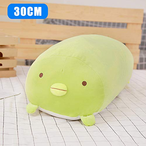 Maxte - Cojín de peluche con diseño de animales, suave y cómodo para niñas y mujeres, Verde, 30 cm