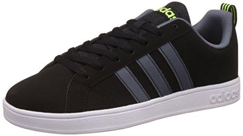 adidas Herren VS Advantage Sneaker, Weiß, 7 EU, Black (Negbas / Ftwbla / Ftwbla), 40 EU