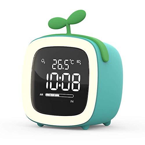FHDFH Antler inteligente reloj despertador electrónico mudo noche luminoso estudiante dormitorio creativo personalidad perezoso niños dibujos animados lindo con