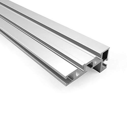 75 Typ T-Mutter T-Schienen Aluminium Holzbearbeitung Backer Tischkreiss?ge T-Schlitz Aluminium für die Holzbearbeitung DIY Werkbank für Zaun 400 mm