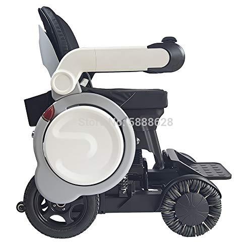 YIONGA CAIJINJIN eléctrica Silla de Ruedas Preminum 2020 Último Lujo Motor Fuerte Motor Electric Off-Road Scoetchair Scooter (Color : White)