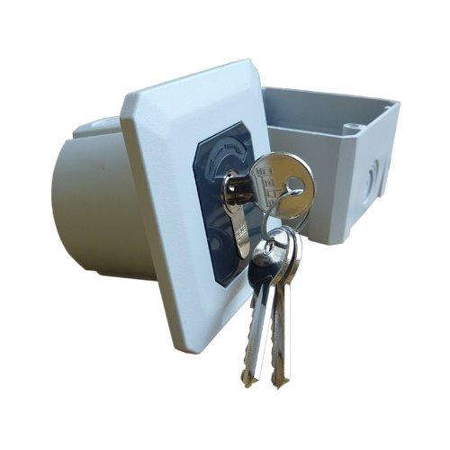 Roluikschakelaar, sleutelschakelaar, AP/UP met toets- en vergrendelfunctie, variabele opbouw/inbouw