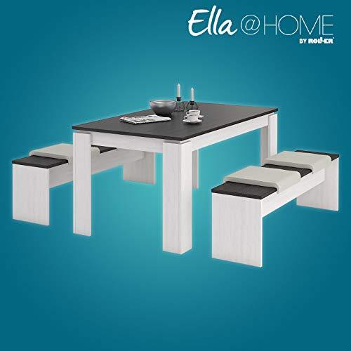 ROLLER Ella@Home Tischgruppe - Pinie-weiß-Wenge - 3-teilig