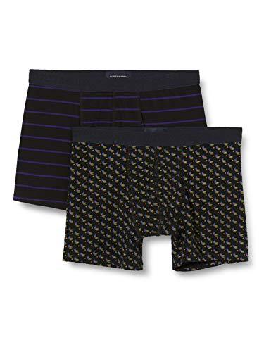 Scotch & Soda Mens Klassische Boxershorts aus Baumwolle im 2er-Pack Boxer Shorts, Combo C 0219, XL