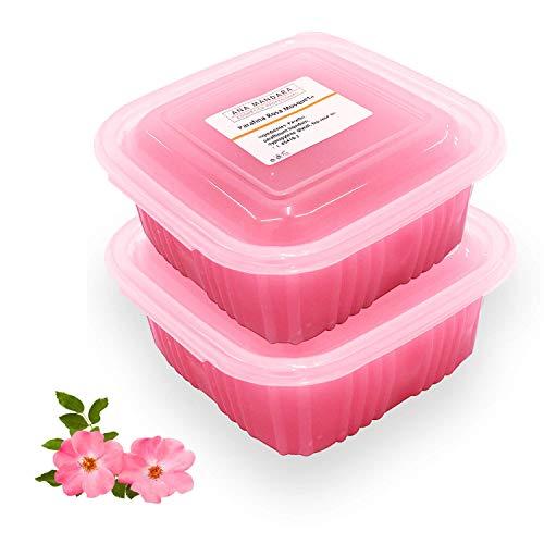 ANA MANDARA - Parafina con rosa de mosqueta 1000 ml (2 paquetes de 500ml   700gr). Tratamiento de parafina para manos y pies.