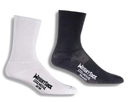 Wrightsock - Running-Socken für Herren in Weiß / Schwarz, Größe S