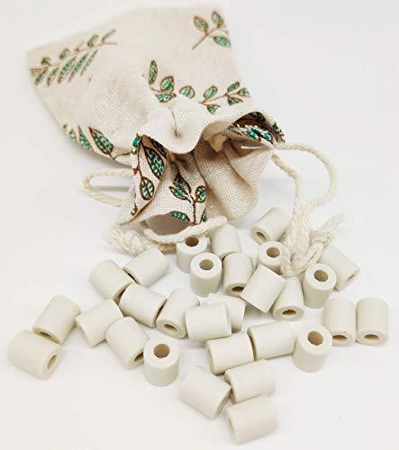 Perline di ceramica EM per caraffa 30 pezzi, perline grigio ceramica EM + sacchetto in cotone – perline per eliminare calcare, cloro misura 10 mm (30 pezzi grigi)