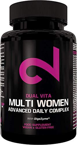 DUAL VITA Multi Women | Multivitamines Pour Femmes | Combo Vitamines, Minéraux et Plantes| Femmes Actives| 60 Capsules Végétaliennes| Complément Alimentaire 100% Naturel |Lab Certifié | Sans Additifs