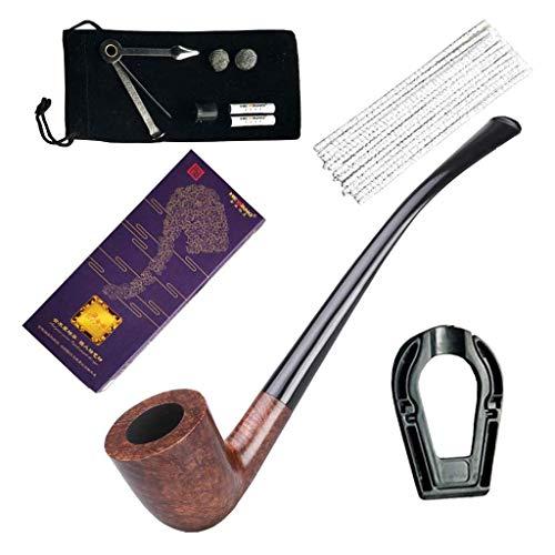 QTDH Tabak Pijpen, Handgemaakte Houten Pijp Natuurlijke Steen Nanmu Afneembare Pijp Roken Tool Voor Man Stijlvolle Gentleman Gift Roken Pijp