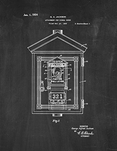 Attachment for Signal Boxes Patent Print Chalkboard (16