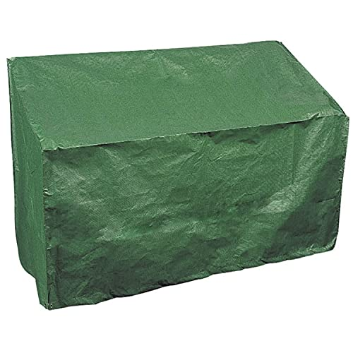 GREEN HAVEN 3-Sitzer Bankauflage mit Eckösen & Befestigungsseilen - Robuste Gartenbankabdeckung Wasserdichte Stuhlabdeckung - Wetterfeste Gartenmöbelabdeckung 90cm x 162cm x 66cm
