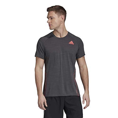 adidas mens Adi Runner Tee Solid Grey Small