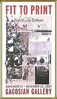 ポスター アーティスト不明 ハーレー Fit to Print2007 collage 額装品 アルミ製ハイグレードフレーム(ゴールド)