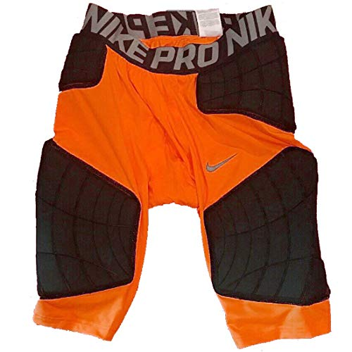 Nike Pro Hyperstrong Targeted Impact Compression Padded Basketball Shorts 746916_888 (Orange, XL)
