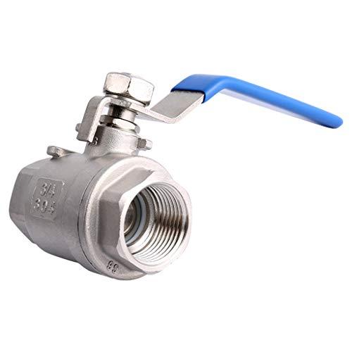 Kogelkraan van roestvrij staal 304 tweedelige kogelkraan tweedelige ventiel 4 punten 6 punten 1 inch DN15 / 20/25/50